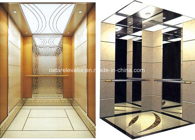 [Hot Item] Golden Lift Cabin, Hotel Used Luxurious Passenger Elevator Cabin  (OS41)