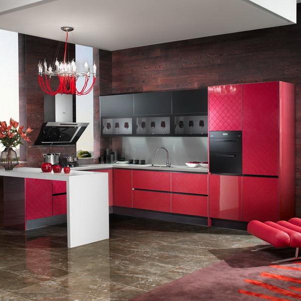 Puerta del armario de acrílico utiliza gabinetes de cocina Muebles ...