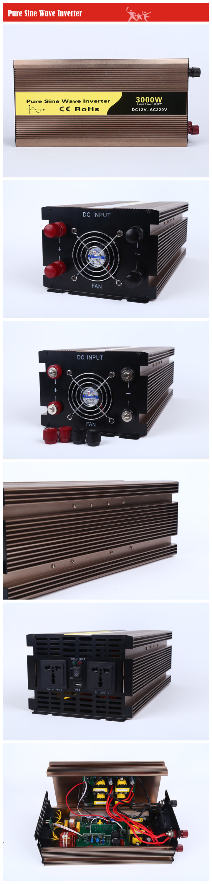3000w Power Inverter Dc To Ac Off Grid For Home Inverters Specification Pure Sine Wave