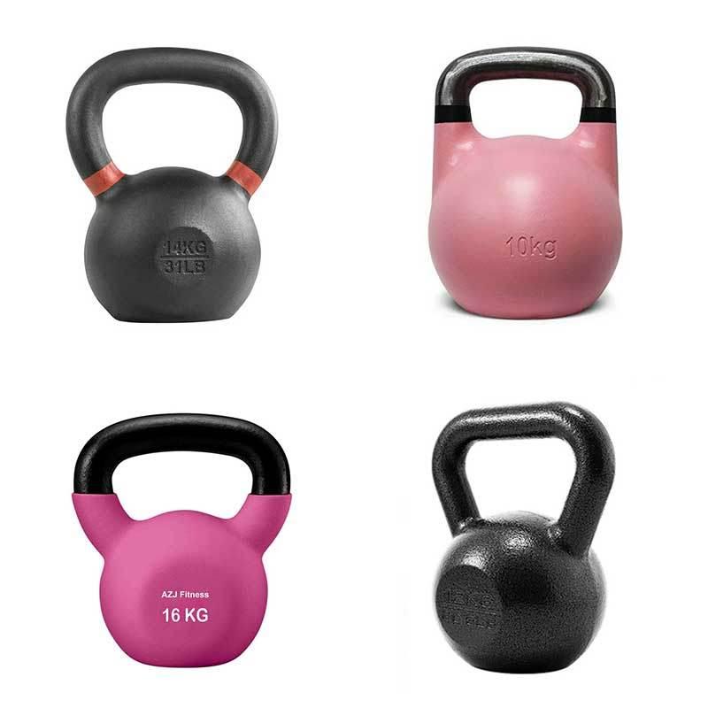 4-16kg Vinyl Kettlebells Dumbbell Weight Fitness Set Exercise Home Gym Training