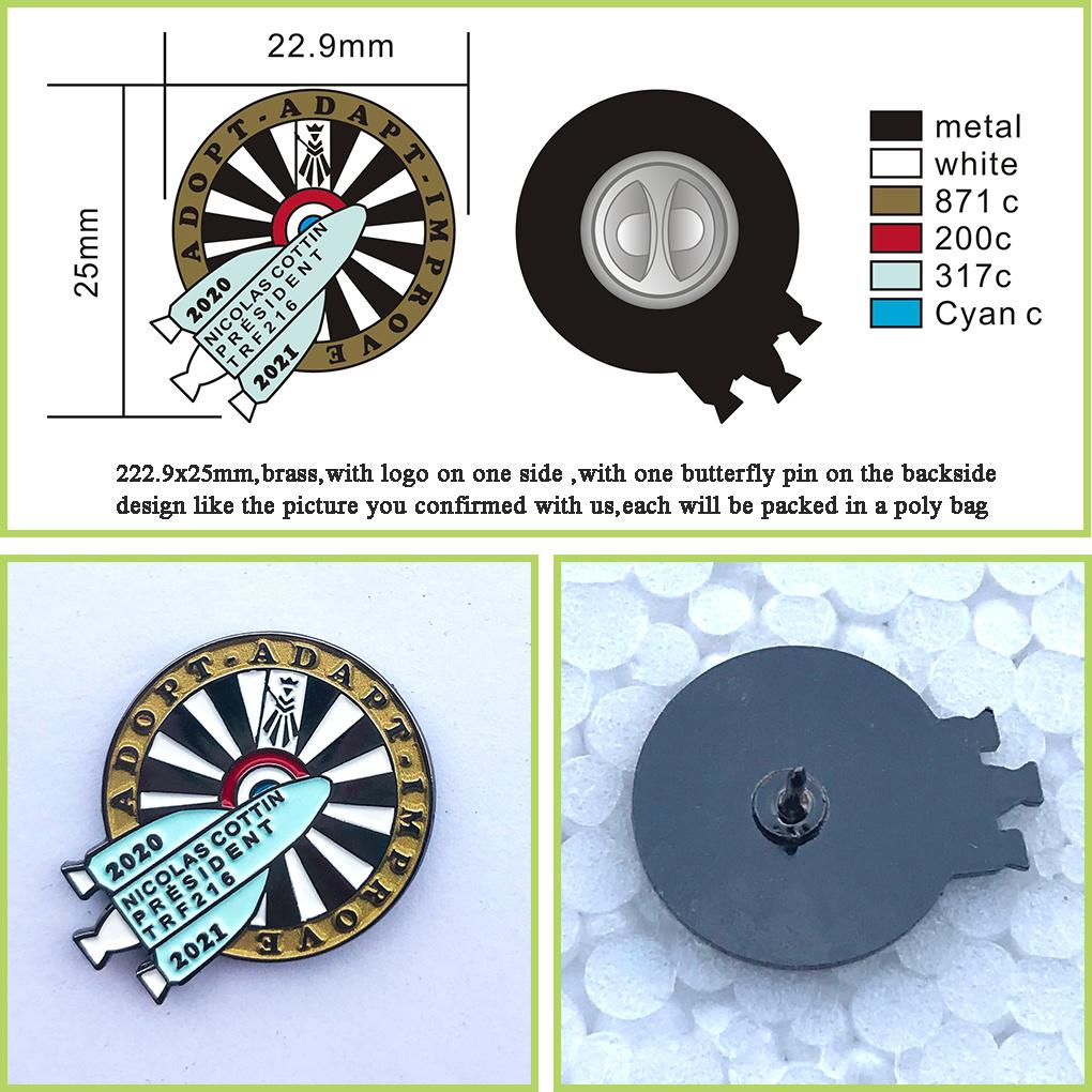 Hot Sale Custom Metal Badges with Epoxy