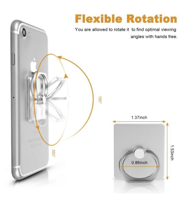 Earnest 360 Degree Mobile Phone Stand Holder Finger Ring Mobile Smartphone Phone Holder Stand Diamond For Iphone Huawei All Phone Mobile Phone Holders & Stands Mobile Phone Accessories