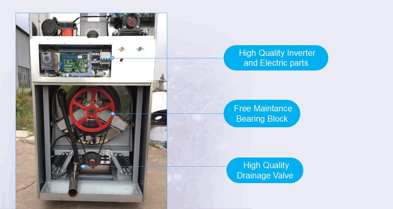 12kg, 15kg Coin Operated Stack Washer Dryer Commercial Laundry Equipment for Laundry Shop