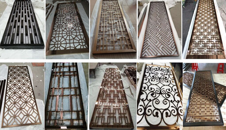 Modern Design Laser Cut Partition Screen Restaurant Wall Panel
