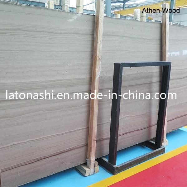 Pulido de madera natural gris veteado de losa de m rmol for Marmol gris veteado