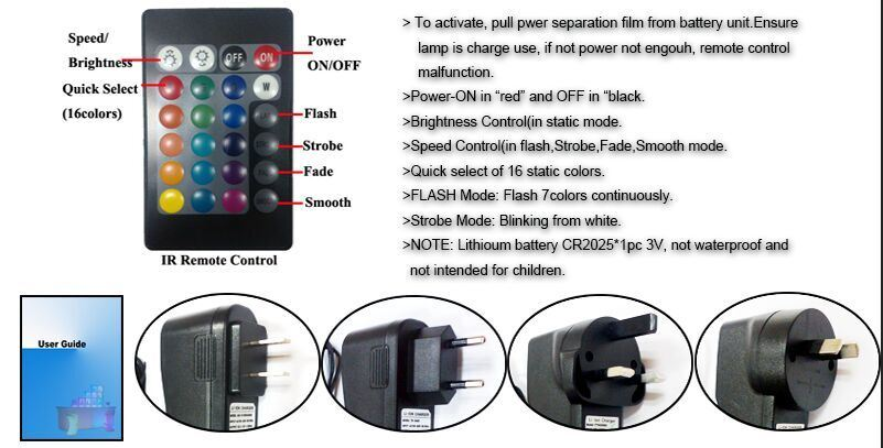 Waterproof Remote Control RGB Color LED Cube Seat and Table