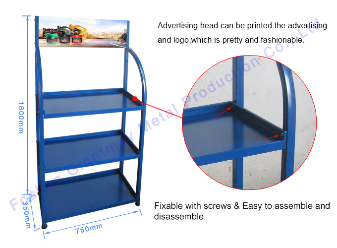 Floor Stand Metal Car Accessories Shop Battery Storage Trade Show - Car show display accessories