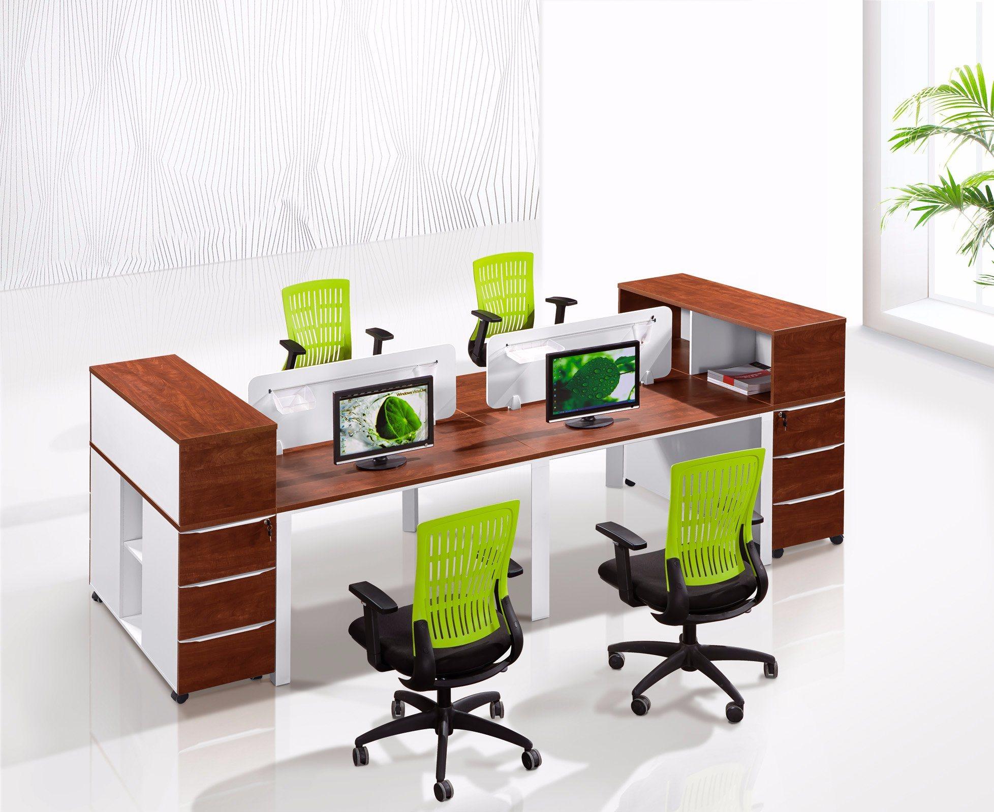 Mdf Parititon Wood Furniture Office Desk Divider Screen Workstation