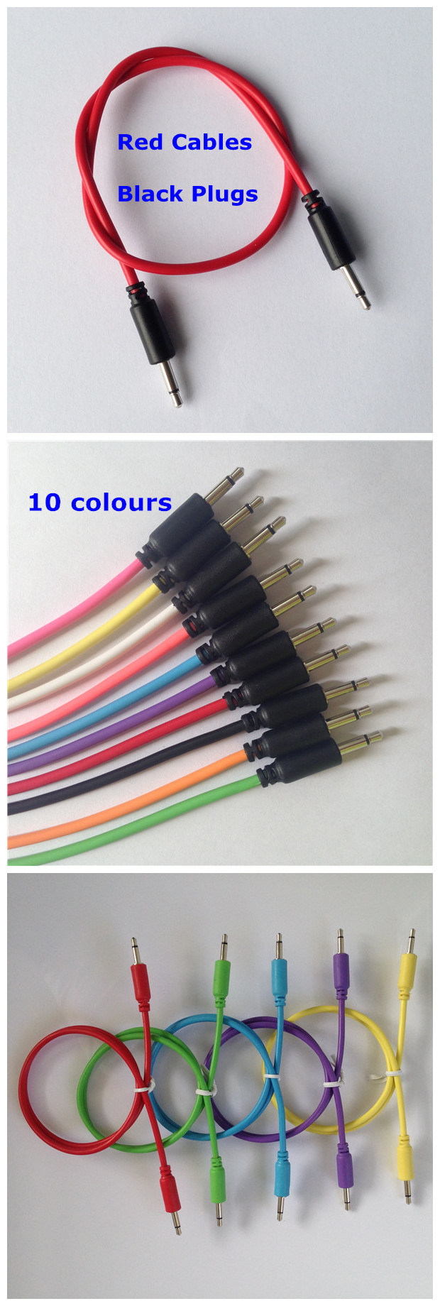 1 8 35mm Mono Jack Patch Cable For Modular Synthesizer China 35 Wiring Transportation