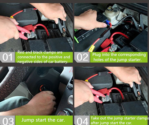 26800 mAh Car Jump Starter Car Charger Power Bank with Air Compressor