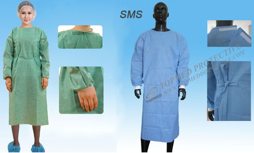 Nonwoven Hospital Gowns, Protective Disposable Apron with Long ...