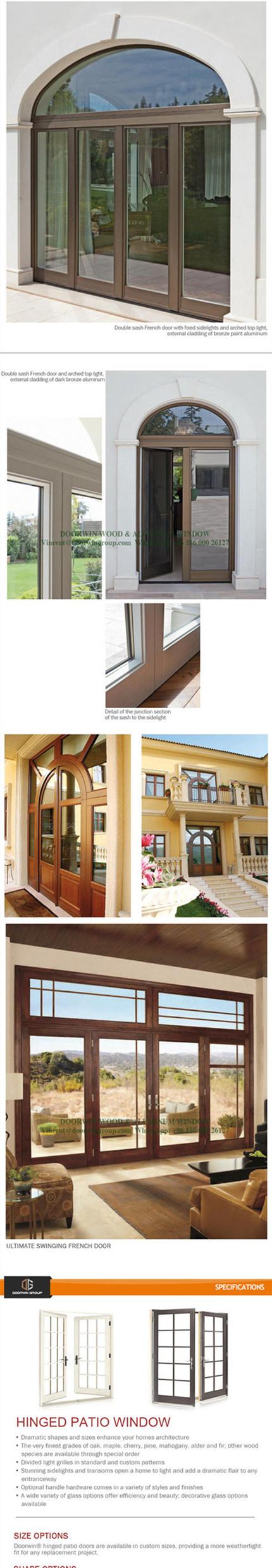 smart expo america style aluminum wood hinged door good view