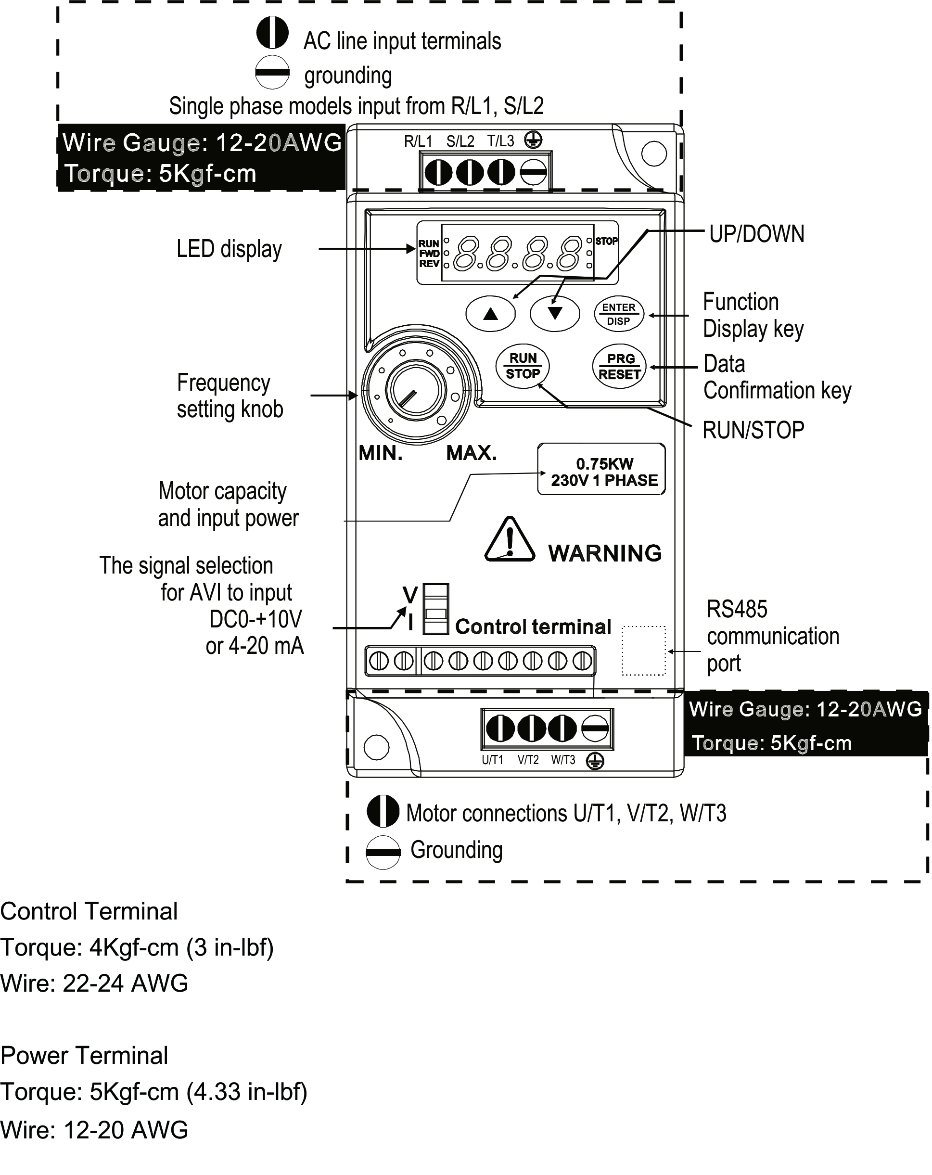 Similar Delta Vfd Ac Motor Speed Controller Variable Frequency Drive Single Phase Control Circuit 13 Main Wire