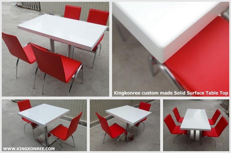 Piedra de m rmol artificial blanco mesa de restaurante - Limpiar piedra artificial ...