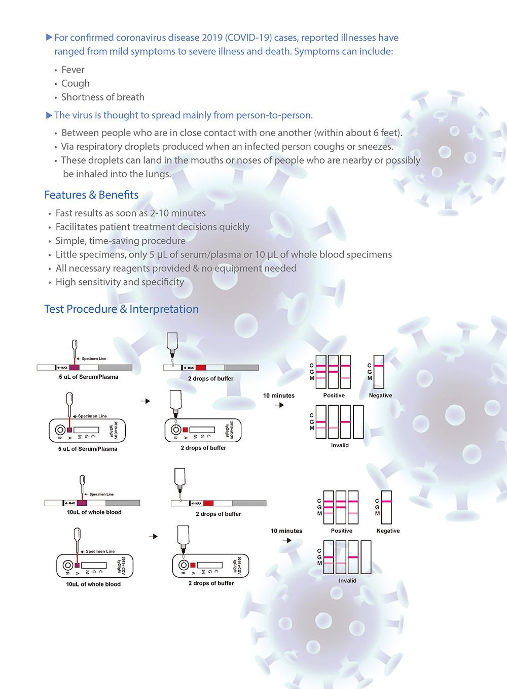 Virus Antibody Igg Igm Human Blood Test Anti Body Diagnostic Rapid Cassette Test Kit