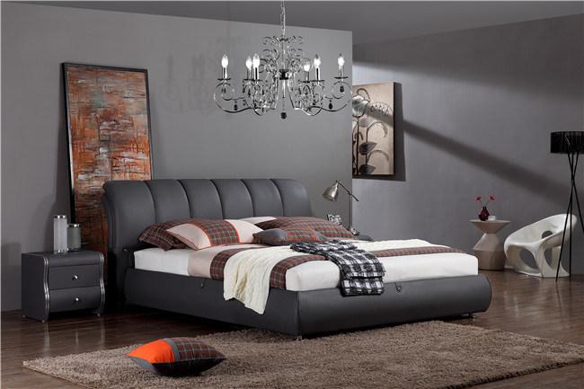 Sofá cama de cuero negro Home Hotel Juego de Muebles de Salón ...