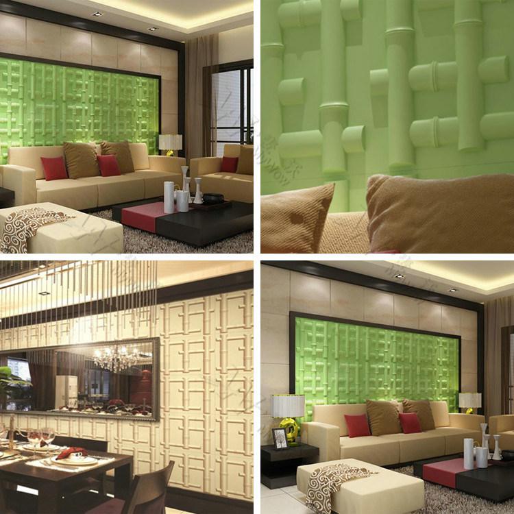 China papel tapiz de bamb estilo panel de pared de pvc de for Paneles de pvc para paredes