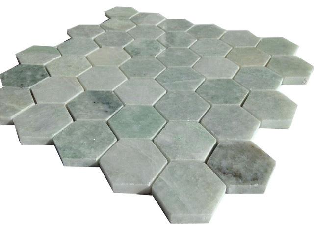 Hexagon Tegels Wit : Tuimelde wit met zwarte hexagon mozaïek tegel ambachten voor