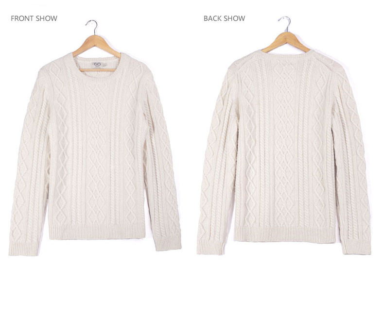 Acrílico de lana de alpaca tejido de Nylon Cable suéter hombre ...