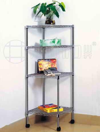 acier chrom de coin bricolage triangle sur le fil rack pour salle de s jour acier chrom de. Black Bedroom Furniture Sets. Home Design Ideas