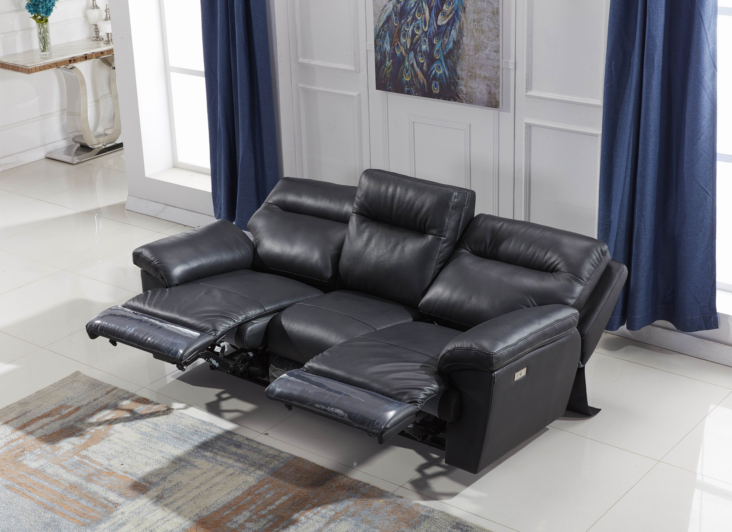 Awesome Miami Modern Style Automatic Italy Genuine Leather Recliner Caraccident5 Cool Chair Designs And Ideas Caraccident5Info