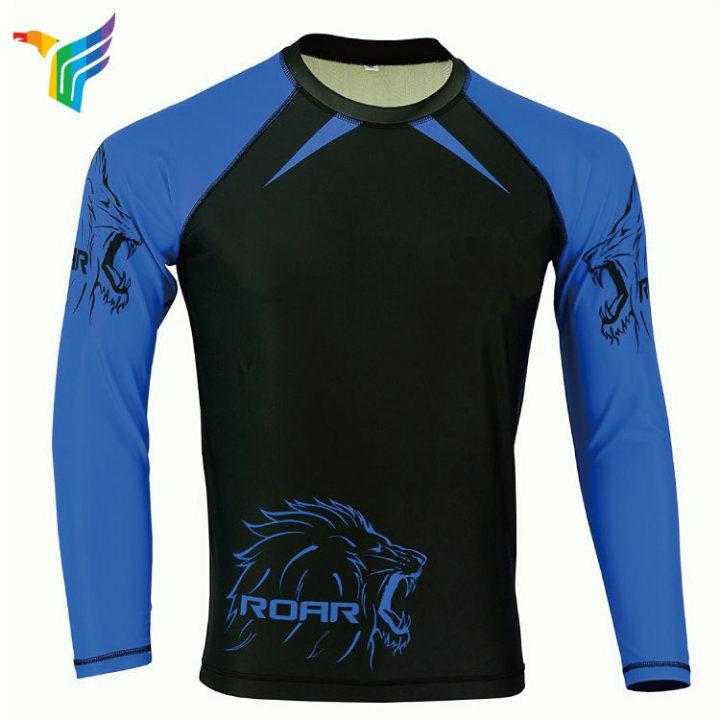 c9559ad042 Dri fit sportswear para homens mens de sublimação de manga longa camisa de  compressão