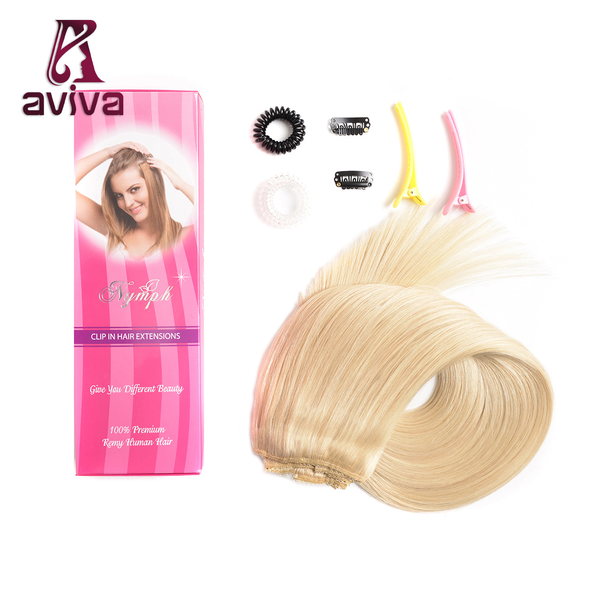 Clip In Hair Extensions Remy Real Human Hair Clip On Long Straight