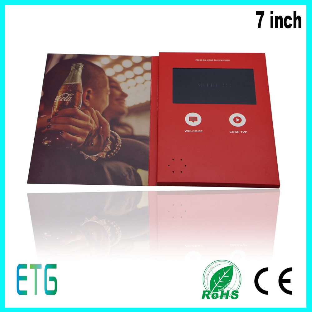 Custom Lcd Video Brochure Greeting Card With Business China Video
