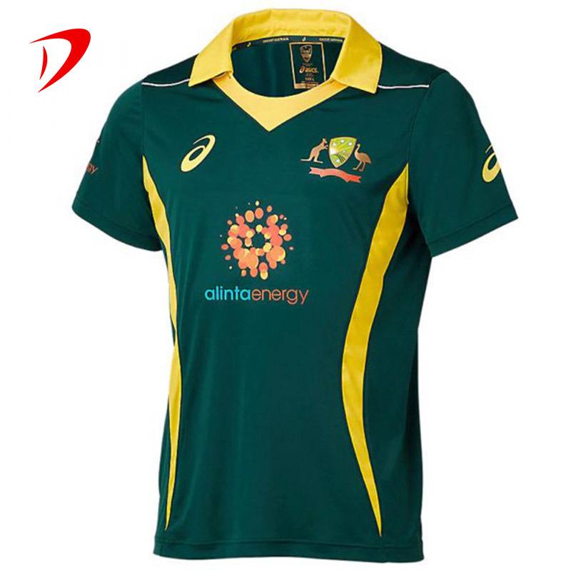 [Hot Item] 2021 Custom Sublimated Design Creen Polo Shirts Cricket Online Supplier China Jersey Shop Set Printing Shirt Cricket Jersey
