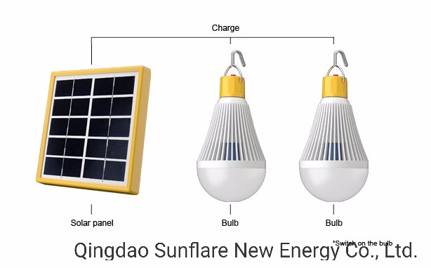 Portable Solar LED Lamp for Reading/Home