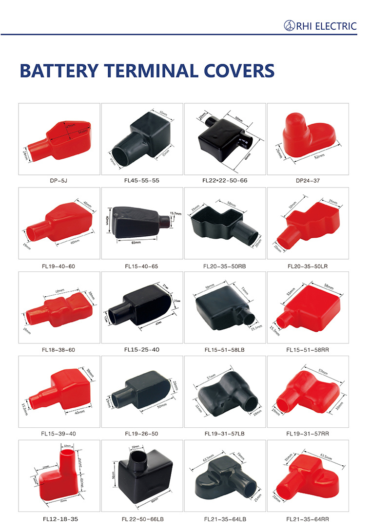 PVC Cable Terminal Battery Caps Wire Battery End Covers