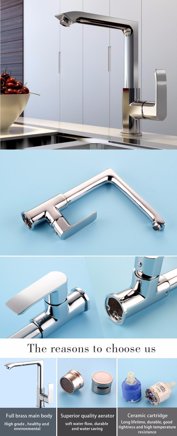 China Wholesale Deck Mounted Hot Cold Water Mixer Tap for Kitchen ...