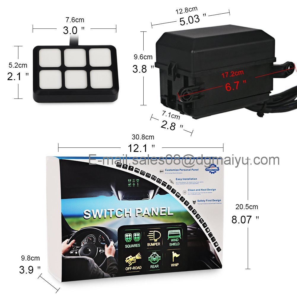 Universally Adaptable Dc12v Led 6 Switch Panel Electronic Relay Touch Circuit Using 15 Pin Vga Transmission On Or Off Just Lightly Compact Sleek Water Resistant Design Control All Your Devices Up To