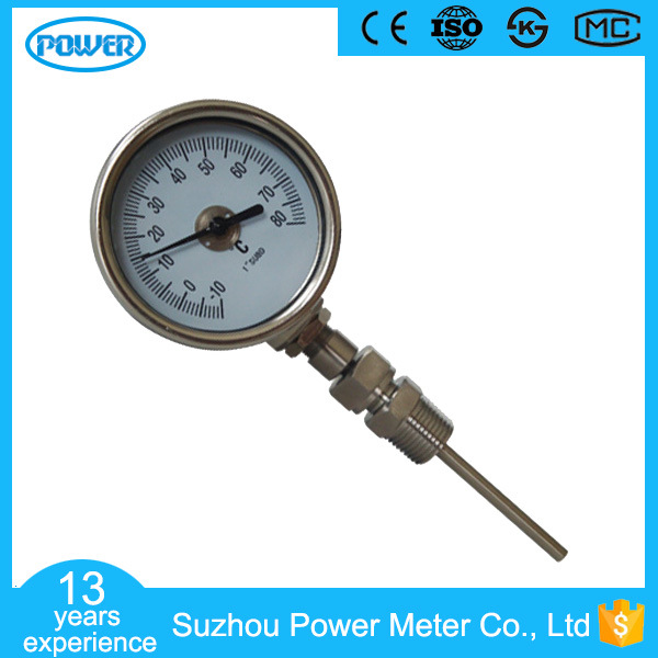 60mm High Quality Bimetallic Thermometer Stainless Steel Omni-Directional Temperature Gauge
