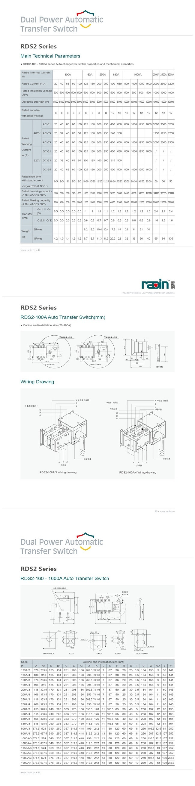 100 Amp Transfer Switch Wiring China 208v Auto Diagram 1 The Patented Designed Rds2 Series Now Is Upgraded Up To 1600a 2 Dc12v 24v Controlled Ats Available It Can Be Work With Dse Or Other Brand