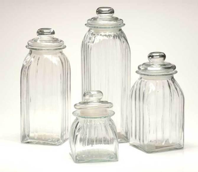 Jarra de cristal de vidrio, botellas de vidrio, para el ...