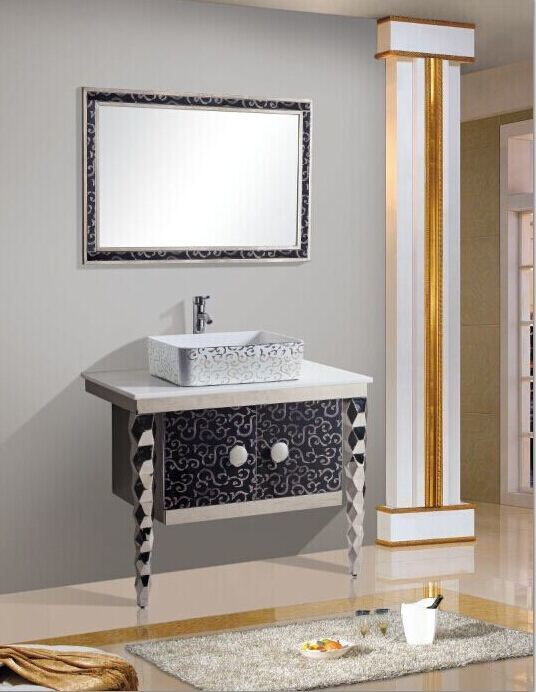 새로운 디자인 싱크대 물동이를 가진 현대 스테인리스 목욕탕 ...