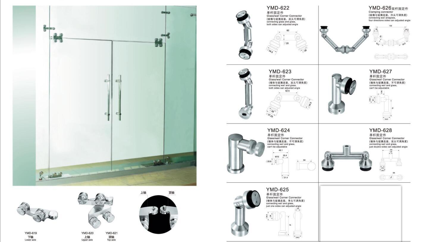 Frameless Shower Accessories Stainless Steel Glass Door Hardware Fittings