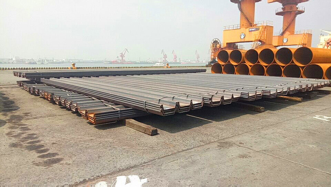 Hot Rolled Steel Profiles U Shape Sheet Piling Sheet Pile From Building Material Factory Sy295