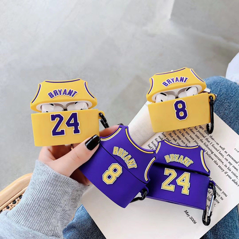 Jersey for Kobe Bryant Airpods Case No. 24 Shoes Laker NBA 3D for ...