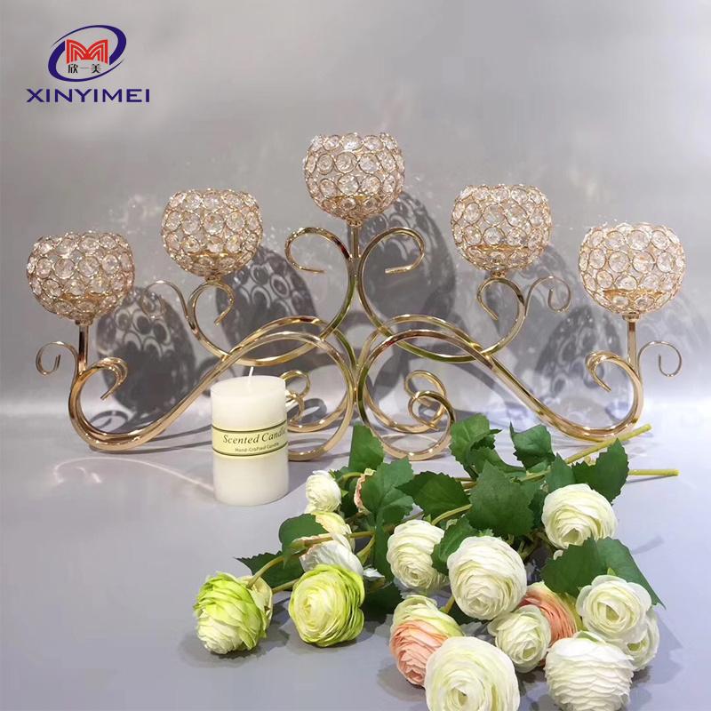 Elegant Gold Metal Dining Table Candle Holder Wedding Centerpiece China Wedding Centerpiece Metal And Wedding Centerpiece Gold Price Made In China Com