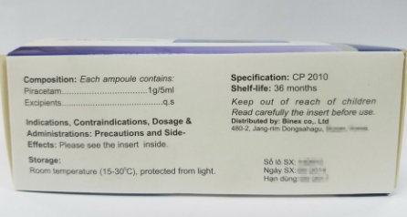 Western Medicine Piracetam Injection 1g 5ml For I V Only China