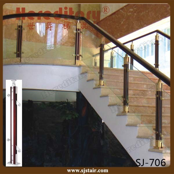 Staircase Railing Design Wooden 1