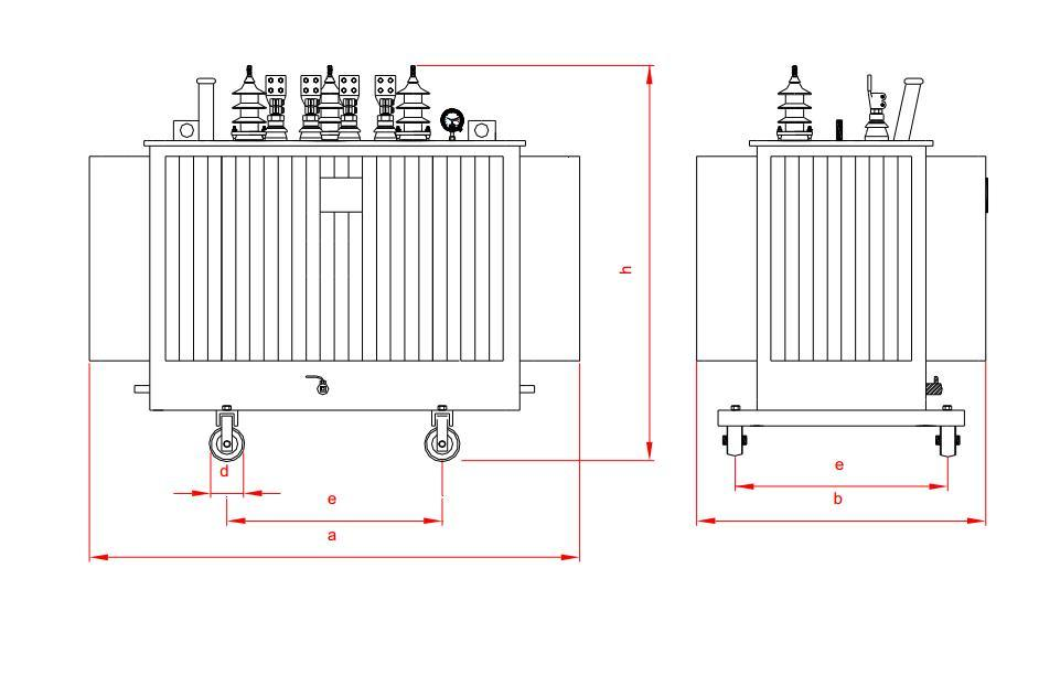 3 Phase Oil Immersed Toroidal 2 Winding Type Electrical Distribution  Transformer