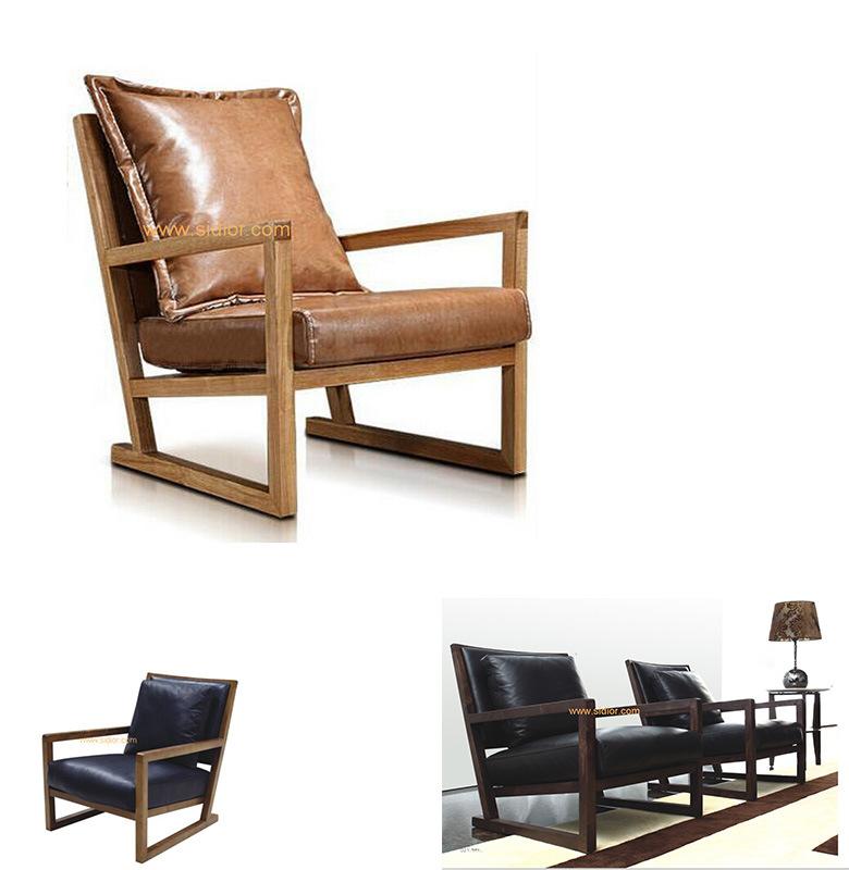 CL-1127) Moderno hotel de madera Muebles de salón con sofá de Ocio ...