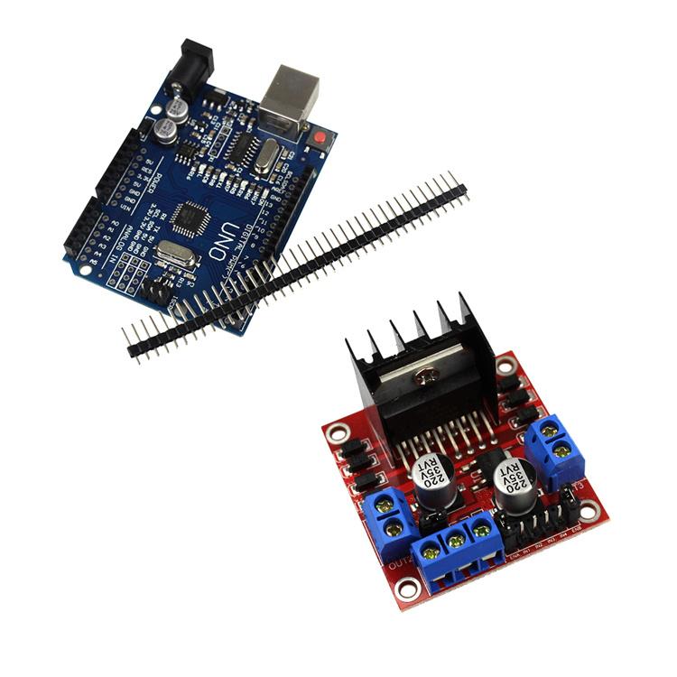 Smart Electronics Motor Smart Robot Car Chassis Kit Speed Encoder Battery  Box 2WD Ultrasonic Module for Arduino DIY Kit