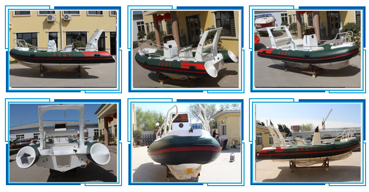 Hailun 520cm Rigid Inflatable Boat/ Fishing Boat/Rib/River Rescue Boat