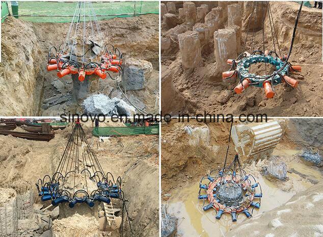 SPA5 concrete cutter round square 12 modules pile preaker