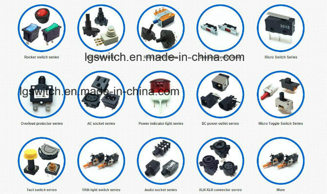 UL/ENEC Dpst/4p on-off Approved Miniatue Rocker Switches