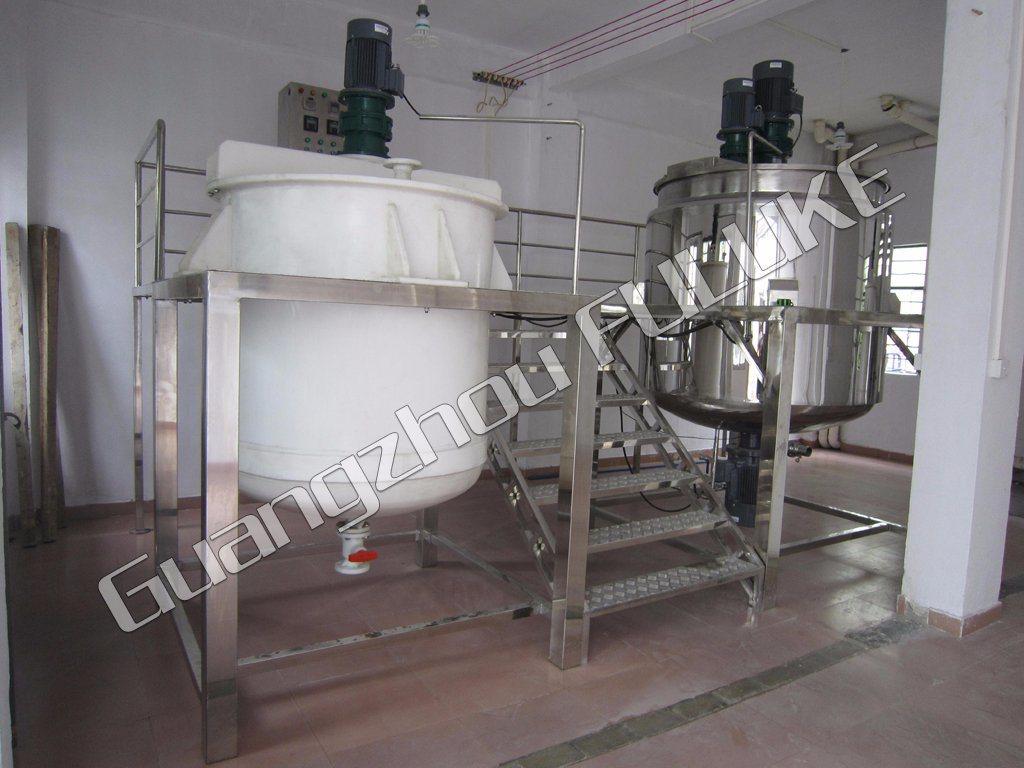 Shampoo Mixing Equipment Chemical Blending Tank Cosmetic Mixing Equipment